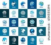vector logo globe | Shutterstock .eps vector #654555394