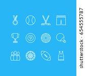 vector illustration of 12 sport ... | Shutterstock .eps vector #654555787