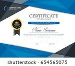 vector certificate template | Shutterstock .eps vector #654565075