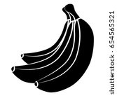 vector bananas. bunches of... | Shutterstock .eps vector #654565321