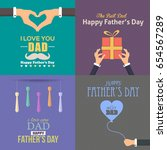 father's day greeting card.... | Shutterstock .eps vector #654567289