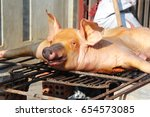 Small photo of roast pig