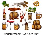 Beer Snacks Icons. Isolated...
