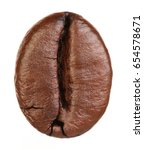 coffee bean isolated on white... | Shutterstock . vector #654578671