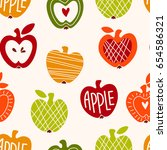 vector seamless pattern with... | Shutterstock .eps vector #654586321