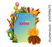 vector illustration of festa... | Shutterstock .eps vector #654598675