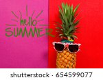 summer and holiday concept... | Shutterstock . vector #654599077