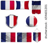 set of the national flag of... | Shutterstock .eps vector #654601201