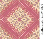 seamless indian floral paisley... | Shutterstock .eps vector #654612079