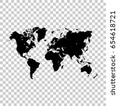world map isolated on... | Shutterstock .eps vector #654618721