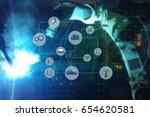 industry 4.0 concept .industry... | Shutterstock . vector #654620581
