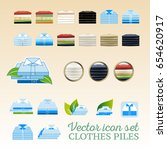 vector clothing piles flat and... | Shutterstock .eps vector #654620917