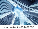 looking up at business... | Shutterstock . vector #654622855