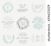 vector collection of hand drawn ...   Shutterstock .eps vector #654623329