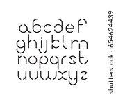 elegant line orbed font. circle ... | Shutterstock .eps vector #654624439