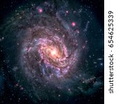 messier 83  southern pinwheel... | Shutterstock . vector #654625339