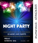 night disco party | Shutterstock .eps vector #654626305