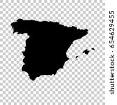 spain map isolated on... | Shutterstock .eps vector #654629455