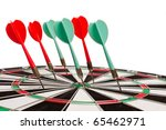 closeup of a dartboard with six ... | Shutterstock . vector #65462971