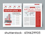 corporate magazine template... | Shutterstock .eps vector #654629935