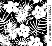 seamless exotic pattern with... | Shutterstock .eps vector #654630229