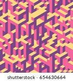 vector seamless isometric... | Shutterstock .eps vector #654630664