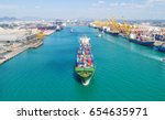 container container ship in... | Shutterstock . vector #654635971