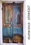 close-up photo of ancient door - stock photo