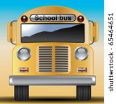 yellow bus | Shutterstock .eps vector #65464651
