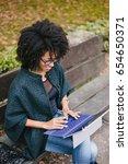 stylish black female... | Shutterstock . vector #654650371