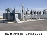 electric power substation ... | Shutterstock . vector #654651331