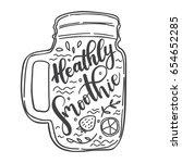 vector lettering illustration...   Shutterstock .eps vector #654652285