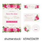 wedding invitation cards with... | Shutterstock .eps vector #654653659
