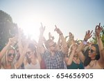 group of people dancing at... | Shutterstock . vector #654656905