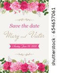 wedding invitation cards with... | Shutterstock .eps vector #654657061