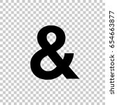 Ampersand Symbol Isolated On...