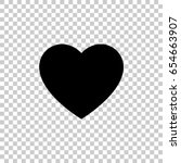 heart icon isolated on...   Shutterstock .eps vector #654663907