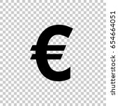 euro sign isolated on... | Shutterstock .eps vector #654664051