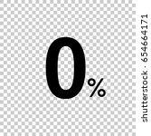 0    zero percent isolated on... | Shutterstock .eps vector #654664171