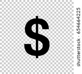 dollar sign isolated on... | Shutterstock .eps vector #654664225