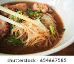 vietnamese pho noodles | Shutterstock . vector #654667585