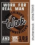 color vintage lumberjack banner | Shutterstock .eps vector #654670045
