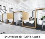 3d rendering. modern creative... | Shutterstock . vector #654672055