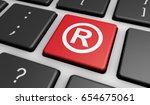 business registered trademark... | Shutterstock . vector #654675061