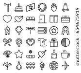 Decoration Icons Set. Set Of 3...