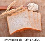 whole grain bread | Shutterstock . vector #654676507