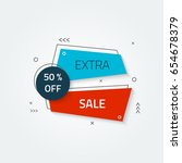 modern blat geometric banners.... | Shutterstock .eps vector #654678379