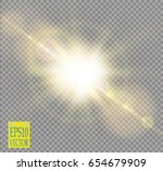 vector transparent sunlight... | Shutterstock .eps vector #654679909