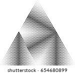 vector hipster triangle... | Shutterstock .eps vector #654680899