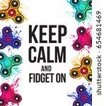 watercolor fidget spinner... | Shutterstock .eps vector #654681469